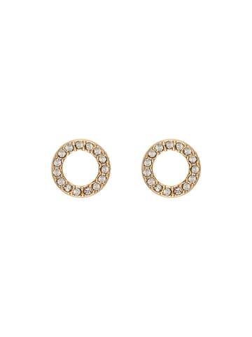 DKNY Kolczyki w kolorze złotym z kryształami Swarovski