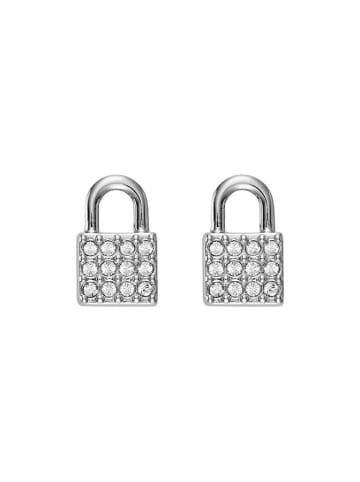 DKNY Kolczyki w kolorze srebrnym z kryształami Swarovski