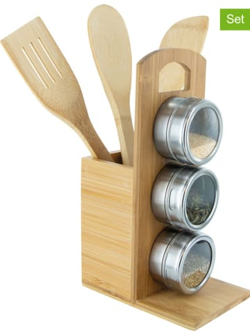 COOK CONCEPT 7tlg. Küchenhelfer-Set in Natur - (B)10 x (H)31,5 x (T)15 cm