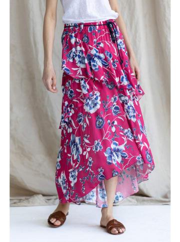 Bynamesakke Spódnica w kolorze czerwonym ze wzorem
