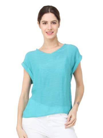 ASSUILI Koszulka w kolorze turkusowym