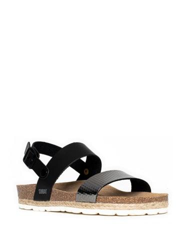 """Sunbay Sandalen """"Kalmie"""" zwart/zilverkleurig"""
