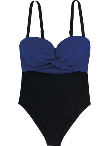 Dorina Badeanzug in Blau/ Schwarz