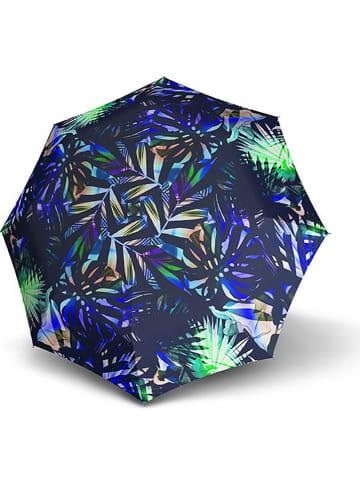 "Knirps Paraplu ""Knirps T.703 Stick Automatic"" donkerblauw/groen"