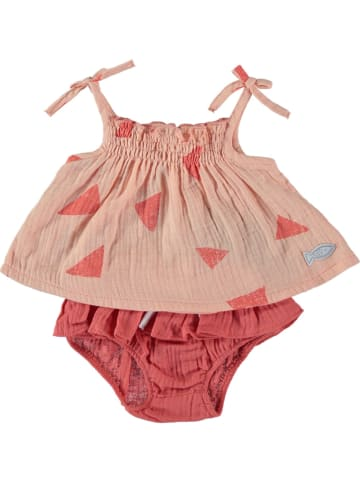 Cotton Fish 2tlg. Outfit in Apricot/ Koralle
