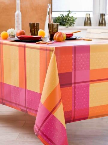 """Nydel Beschichtete Tischdecke """"Indila"""" in Pink/ Orange"""