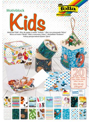 "Folia Motivblock ""Kids"" in Bunt - 20 Blatt - (L)34 x (B)24cm"
