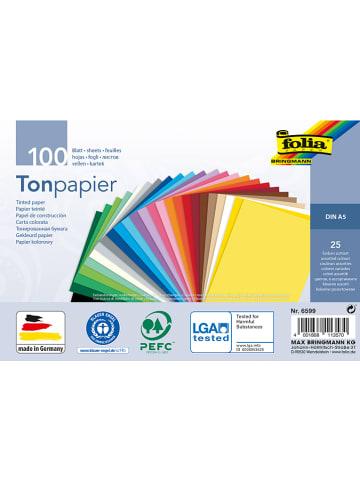Folia Gekleurd papier meerkleurig - 100 vellen - A5