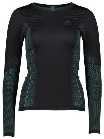 """Odlo Fietsonderhemd """"SUW"""" zwart/turquoise"""