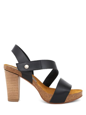 CLKA Leder-Sandaletten in Schwarz
