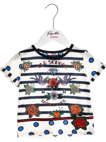 """Rosalita Señoritas Shirt """"Coconut"""" wit/meerkleurig"""