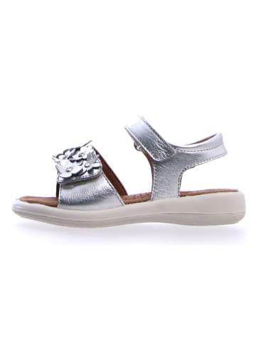 Naturino Leren sandalen zilverkleurig
