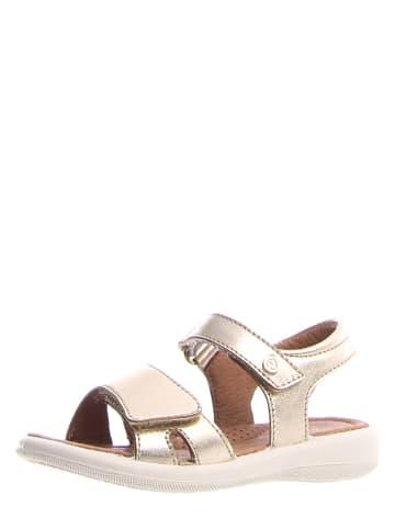 Naturino Leren sandalen goudkleurig