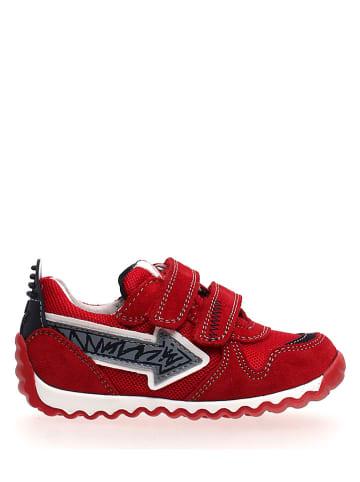 Naturino Skórzane sneakersy w kolorze czerwonym