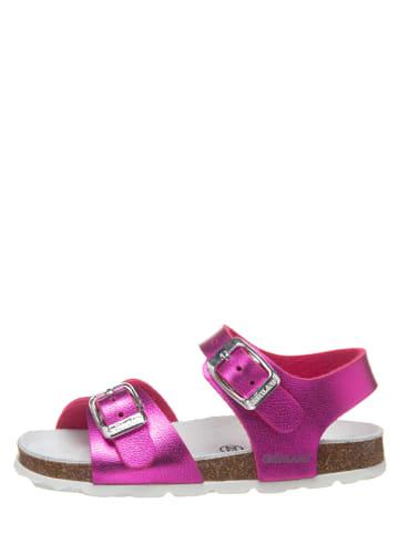 Grünland Skórzane sandały w kolorze różowym