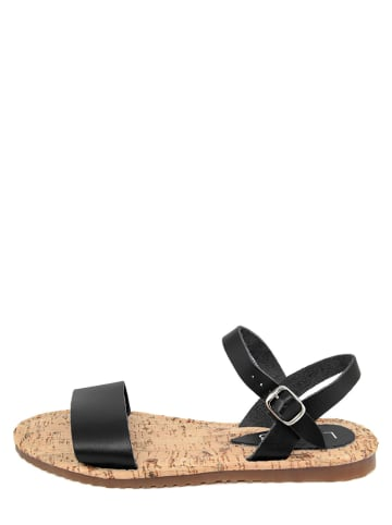 LAB78 Skórzane sandały w kolorze czarnym