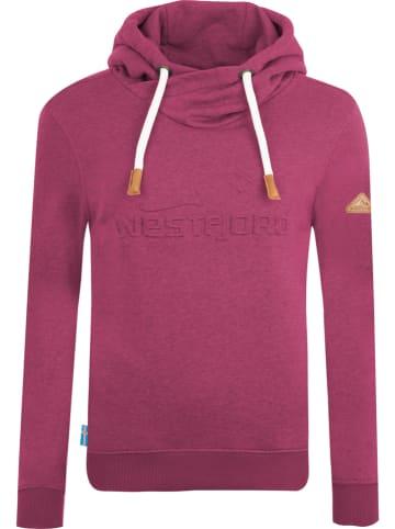 """Westfjord Sweatshirt """"Askja"""" rood"""