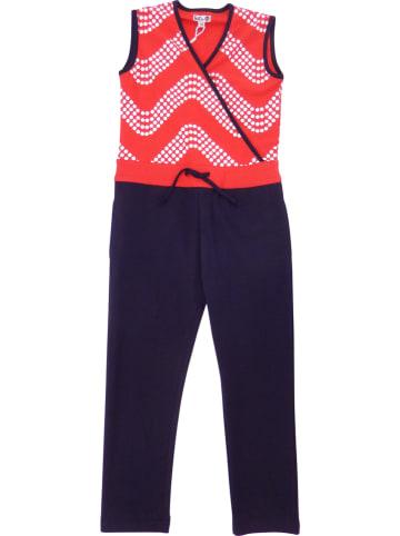 Lofff Jumpsuit rood/donkerblauw