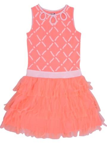 """Lofff Sukienka """"Afrodite"""" w kolorze pomarańczowo-białym"""