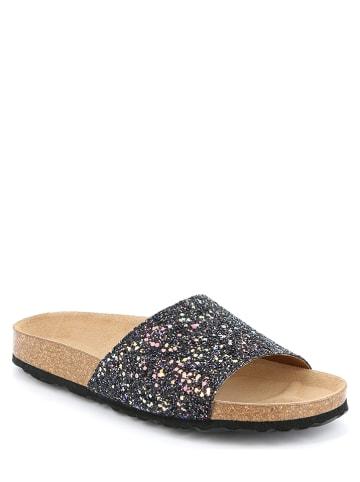 Grünland Leren slippers zwart