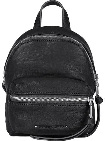 Marc O'Polo Skórzany plecak w kolorze czarnym - 18 x 18 x 9 cm