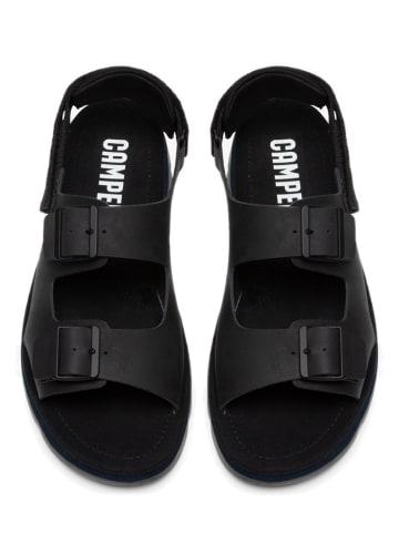 "Camper Leren sandalen ""Oruga"" zwart"
