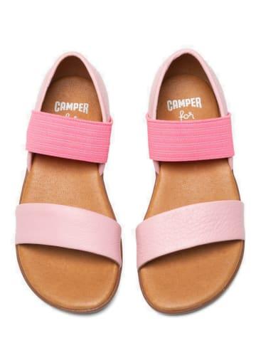 "Camper Leren sandalen ""Right"" lichtroze"