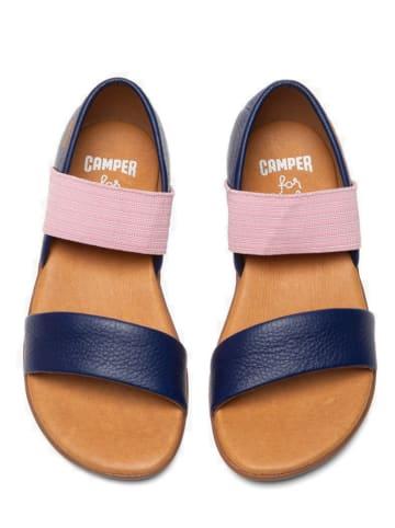 "Camper Leren sandalen ""Right"" donkerblauw/lichtroze"