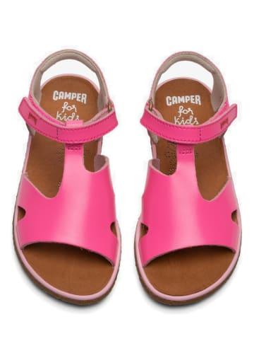 """Camper Skórzane sandały """"Miko"""" w kolorze jasnoróżowym"""