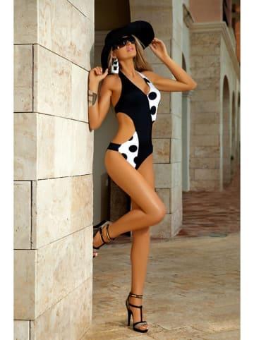 Meriell Club Strój kąpielowy w kolorze czarno-białym