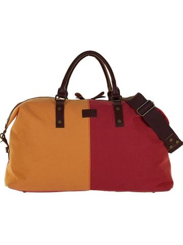 """U.S. BAGS CO. Torba """"Fatto Duro"""" w kolorze czerwono-pomarańczowym - 54 x 33 x 24 cm"""