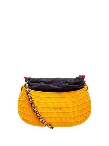 "O Bag Schoudertas ""O swing"" oranje/donkerblauw - (B)29 x (H)14 x (D)10 cm"
