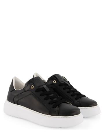 """NoGRZ Leren sneakers """"G.Lynn"""" zwart"""