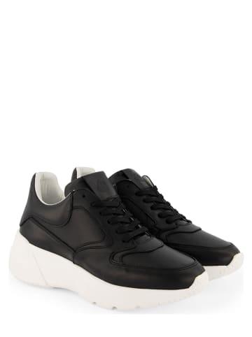 """NoGRZ Leren sneakers """"R.Erith"""" zwart"""