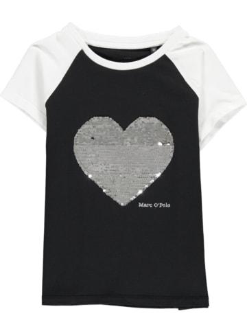 Marc O'Polo Junior Shirt in Schwarz/ Weiß