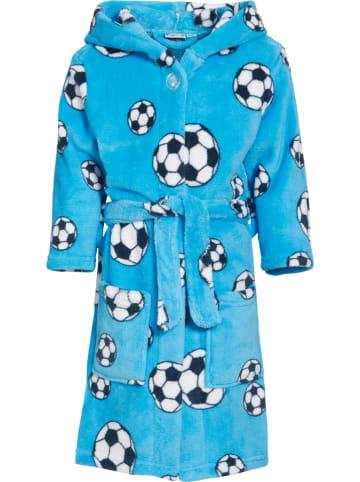 Playshoes Szlafrok w kolorze niebieskim ze wzorem