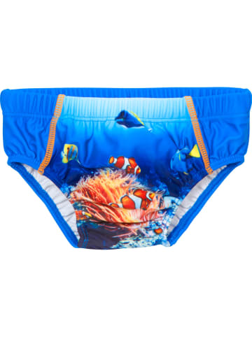 Playshoes Pieluszka kąpielowa w kolorze niebieskim ze wzorem