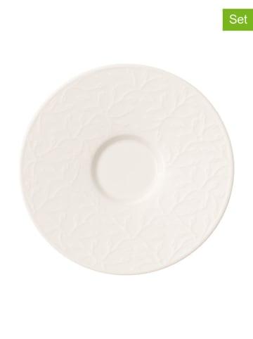 "Villeroy & Boch Spodek ""Caffé Club - Floral Touch"" (4 szt.) w kolorze białym - Ø 17 cm"