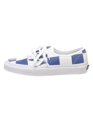 """Vans Leren sneakers """"Authentic"""" wit/blauw"""
