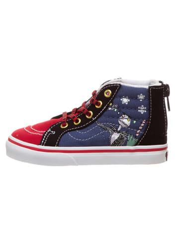 """Vans Sneakers """"SK8-Hi Zip"""" zwart/rood/blauw"""