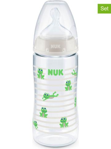 "NUK 2-delige set: babyflessen ""First Choice+"" groen - 2x 300 ml, maat 2"