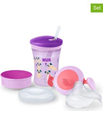 """NUK 3-delige drinkleerset """"Cup All-in-1"""" paars"""