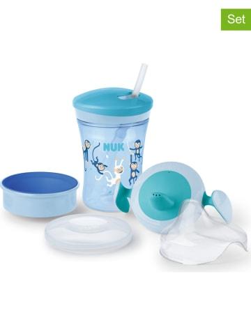 """NUK 3-delige drinkleerset """"Cup All-in-1"""" blauw"""