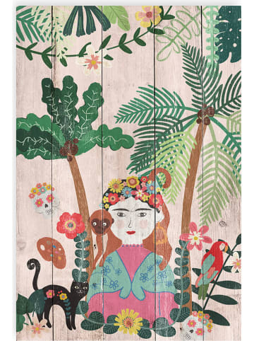 "Madre Selva Kids Nadruk ""Frida Jungle"" na drewnie - 40 x 60 cm"
