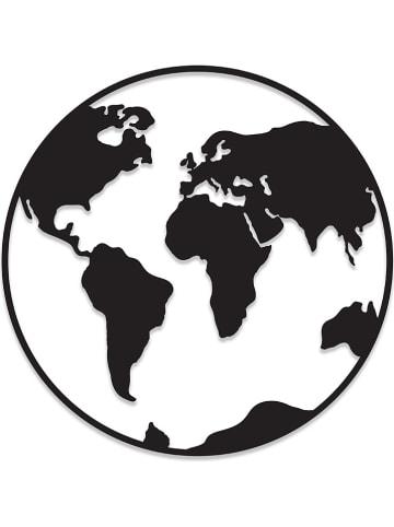 """Madre Selva Kids Dekoracja ścienna """"Earth"""" w kolorze czarnym - Ø 40 cm"""