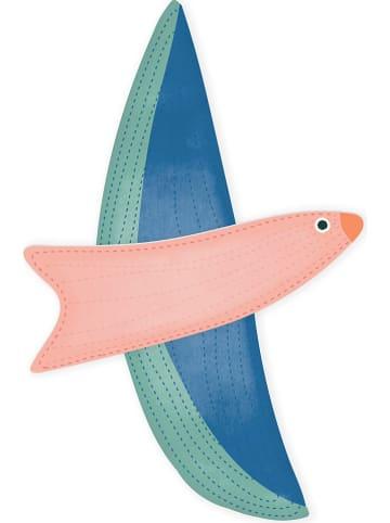 "Madre Selva Kids Dekoracyjna figurka ""Pink Bird"" ze wzorem - 20 x 20 cm"