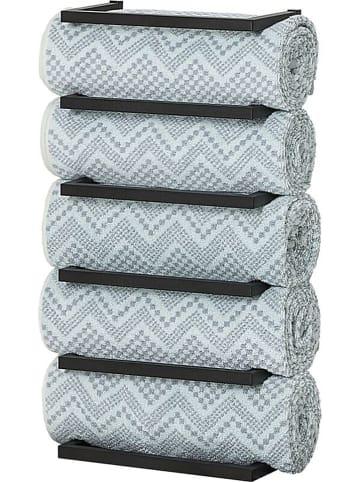 """Sealskin Handdoekhouder """"Carré"""" zwart - (B)24 x (H)48 x (D)12 cm"""