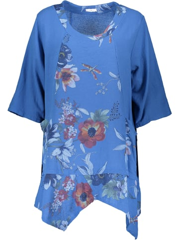 Linen Factory Tunika w kolorze niebieskim