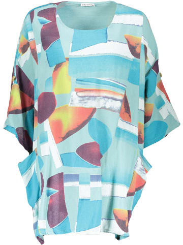 Linen Factory Tuniek lichtblauw/meerkleurig