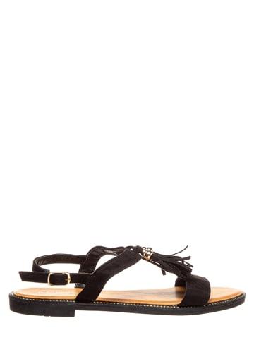 Sixth Sens Sandały w kolorze czarnym